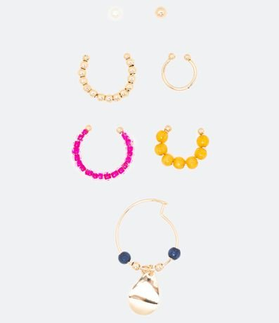 Kit 7 Piercings de Orelha
