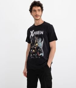 Camiseta Manga Curta Estampa X-Men