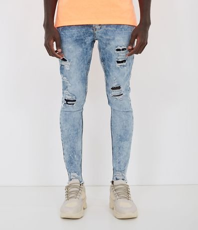 Calça Jeans Super Skinny Lisa Destroyed