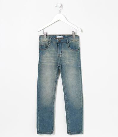 Calça Infantil Jeans Lisa Fuzarka - Tam 5 a 14 anos