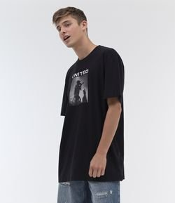 Remera Oversized Estampa United