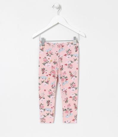 Calça Infantil Legging Floral - Tam 1 a 5 anos