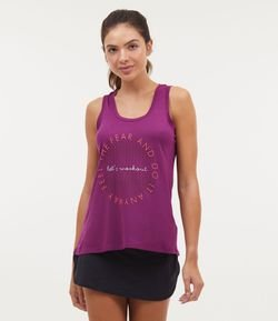 Musculosa Deportiva Estampa Fell The Fear And Do it Anyway