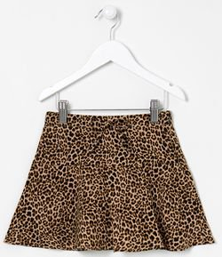 Pollera Estampa Animal Print Tam 5 a 14 años