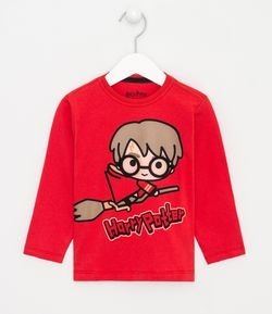 Camiseta Infantil Estampa Harry Potter - Tam 1 a 4 anos
