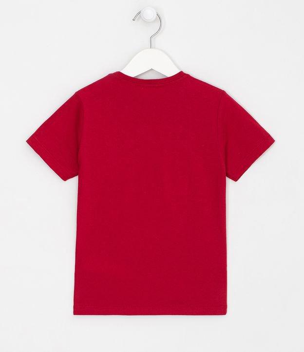Camiseta Infantil Estampa Interativa Corpo do Homem Aranha e Máscara - Tam 3 a 10 anos | Homem Aranha | Vermelho | 5-6