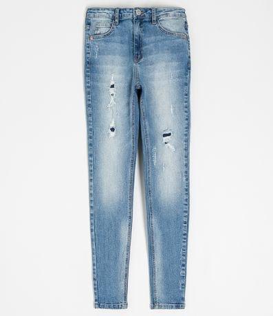 Calça Jeans Skinny com Fusionados