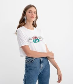 Blusa Cropped Estampa Café Central Perk