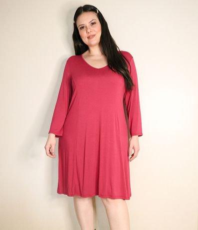 Vestido Liso com Ajuste nas Costas Curve & Plus Size