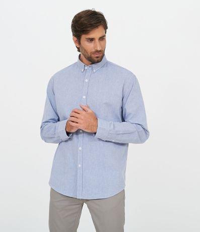 Camisa Oxford Lisa em Algodão