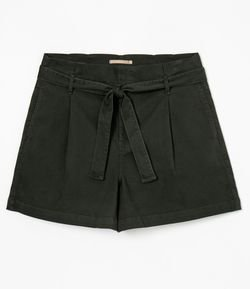 Short em Sarja Clochard com Cinto Curve & Plus Size