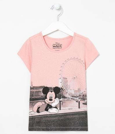 Camiseta Infantil Estampa do Mickey - Tam 5 a 14 anos