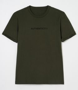 Camiseta Lisa Estampa Authenticity