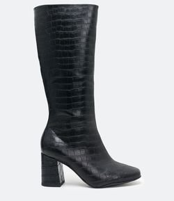 Bota Tall Boot Croco