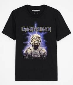 Camiseta com Estampa Iron Maiden