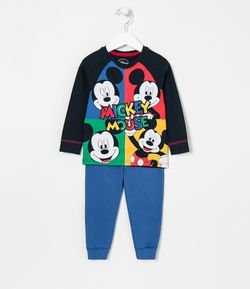 Pijama Infantil Estampa Mickey Mouse - Tam 1 a 4 anos