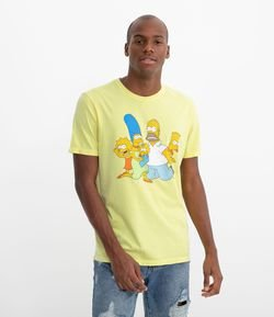 Camiseta Manga Curta Estampa Localizada Simpsons