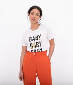 Blusa Estampa Oh baby baby baby