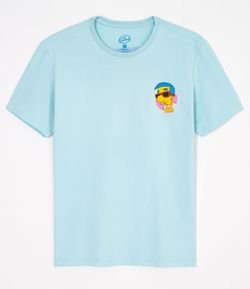 Camiseta Estampa Frente e Verso Simpsons