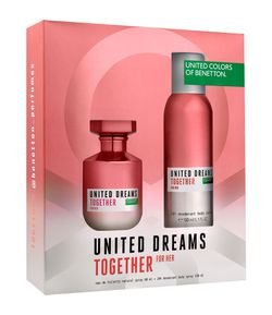 Kit Perfume Benetton United Dreams Together for Her Eau de Toilette + Desodorante