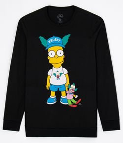 Camiseta com Estampa Bart Simpsons