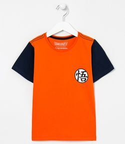 Camiseta Infantil Estampa Dragon Ball - Tam 5 a 14 anos