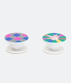 Kit Pop Socket Plástico Estampa Girl Power