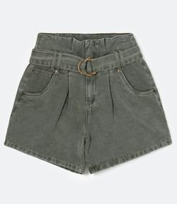 Short Clochard com Cinto e Fivela