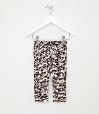 Calça Infantil Legging Quentinha Estampa Zebra - Tam 0 a 18 meses