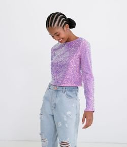 Blusa Manga Larga con Brillo
