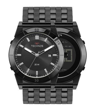 Relógio Masculino Technos 1S13CR4P Analógico e Digital 5ATM