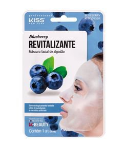 Máscara Facial de Algodão Kiss Blueberry Revitalizante