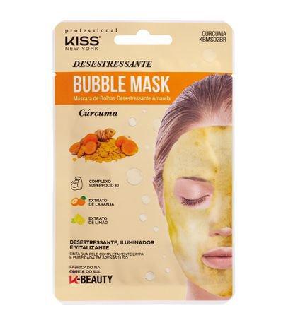 Máscara Facial Bubble Desestressante Amarela Kiss NY