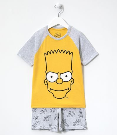 Pijama Infantil Curto Estampa Barth Simpsons - Tam 5 a 14 anos