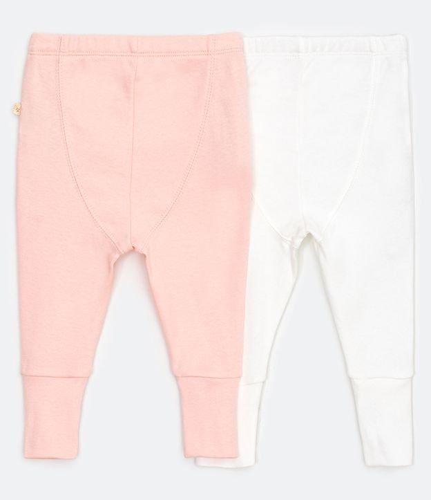 Kit Infantil com 2 Calças Lisas - Tam RN a 18 meses | Teddy Boom (0 a 18 meses) | Multicores | 6-9M