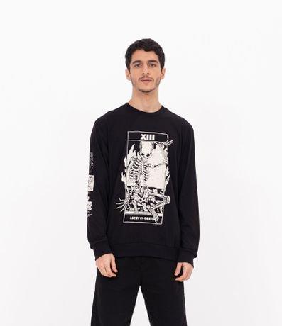 Camiseta Estampa Esqueleto