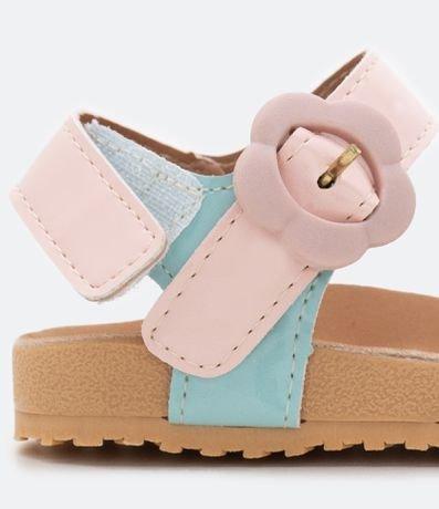 Sandália Infantil com Detalhes Candy Color - Tam 20 ao 27