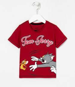 Camiseta Infantil Estampa Tom e Jerry - Tam 1 a 5 anos
