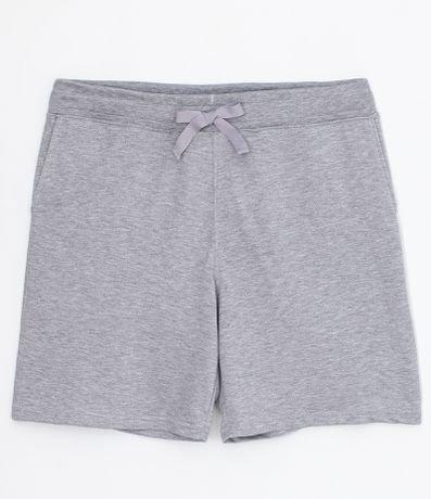 Bermuda de Pijama Lisa com Bolso