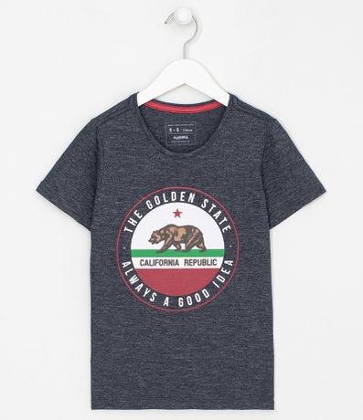 Camiseta Infantil Estampa Urso - Tam 5 a 14 anos