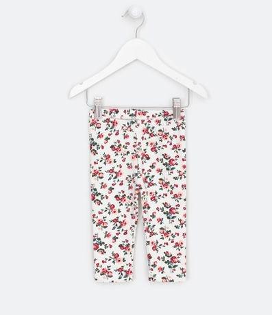 Calça Legging Infantil Estampa Floral - Tam 0 a 18 meses