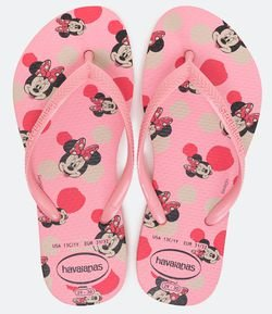 Chinelo Infantil Estampa Minnie - Tam 23 ao 36