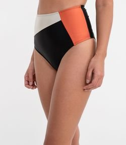 Biquíni Calcinha Hot Pants Color Blocking