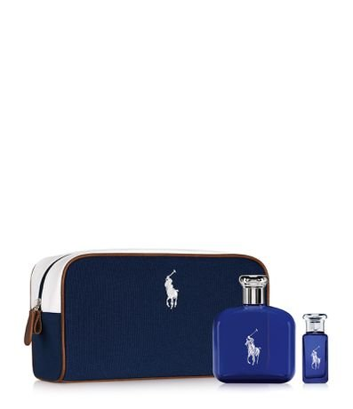 Kit Perfume Ralph Lauren Polo Blue 125ml + Perfume Ralph Lauren Polo Blue 30ml + Necessaire