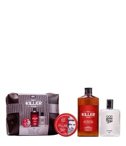 Kit QOD Barber Shop Keller On The Road Shampoo + Pomada + Deo Colônia + Necessaire
