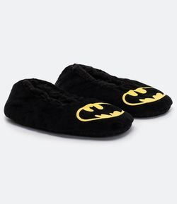 Zapatilla Infantil em Fleece Estampa Batman - Tam P a G