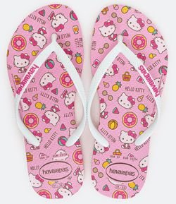 Chinelo Infantil Estampa Hello Kitty Havaianas - Tam 23 ao 36