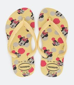 Chinelo Infantil Slim Estampa Minnie - Tam 23 ao 36