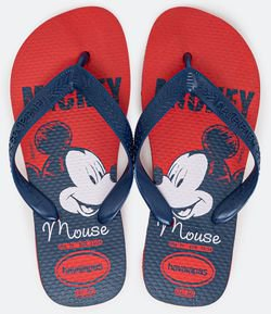 Chinelo Infantil Estampa Mickey Mouse - Tam 23 ao 32