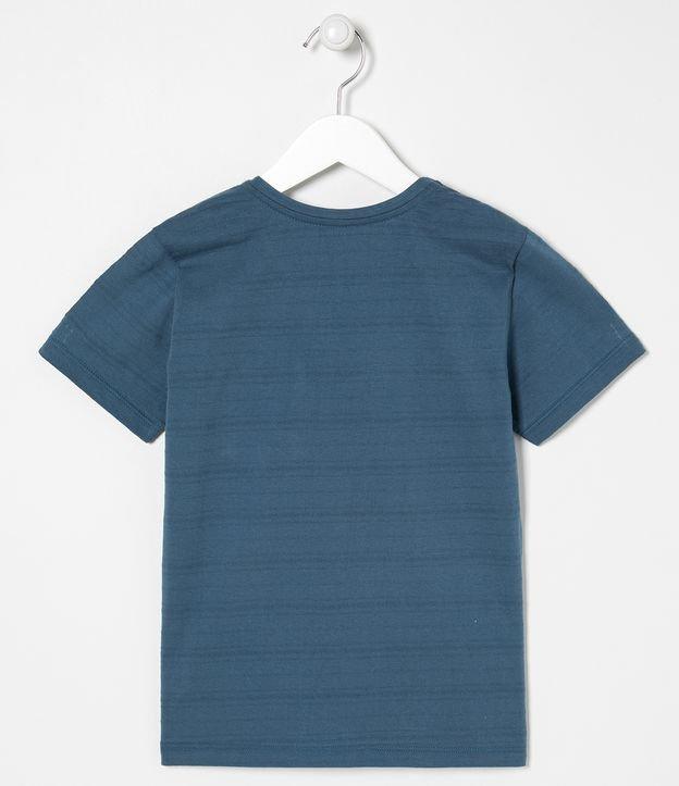 Camiseta Infantil Lisa com Bolso Frontal - Tam 5 a 14 anos | Fuzarka (5 a 14 anos) | Azul | 5-6